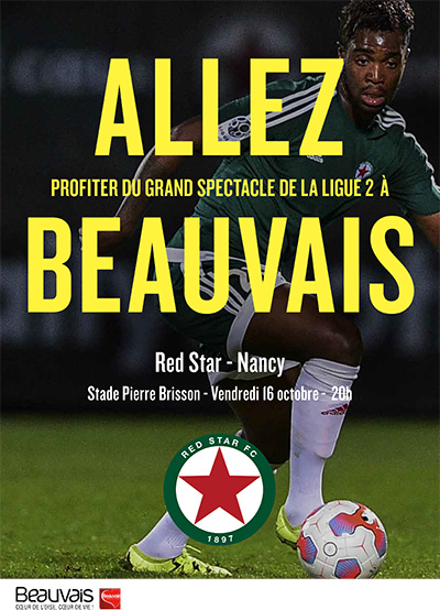 Spectacle de la ligue 2 Red Star - Nancy