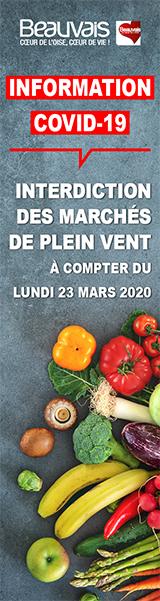 Interdiction des marchés de plein vent à Beauvais à compter du lundi 23 mars 2020