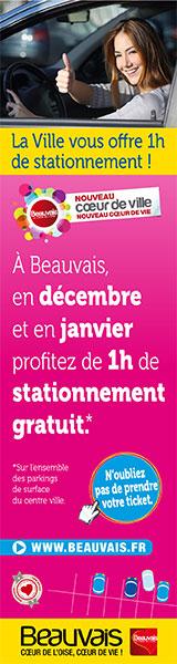 Stationnement : 1 heure gratuite Décembre 2014