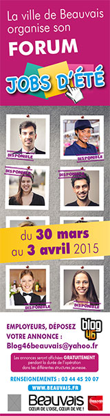 Forum Jobs d'été du 30 mars au 3 avril 2015