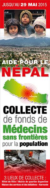 Collecte de fonds de Médecins sans frontières pour la population Népalaise