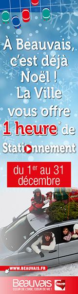 Stationnement gratuit 1 heure du 1er au 31 décembre
