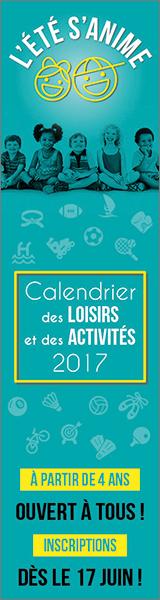 Calendrier des loisirs et des activités 2017