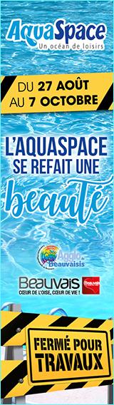 Fermeture de l'Aquaspace du 27 août au 7 octobre 2018 inclus