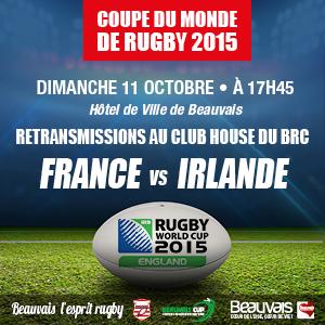 Coupe du monde de rugby 2015 - Retransmission France vs irlande