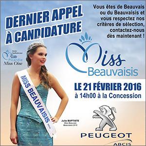 Miss Beauvaisis 2016 - recrutement