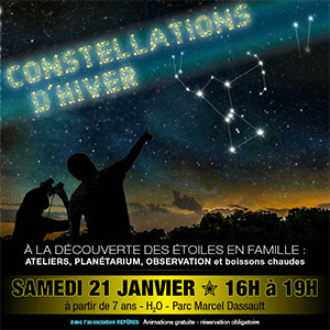 Constellations d'hiver : A la découverte des étoiles en famille !