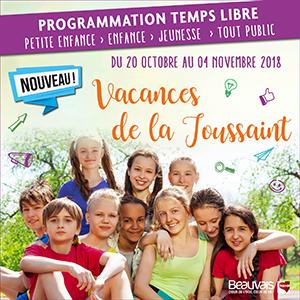 Programme des activités et animations vacances de la Toussaint 2018