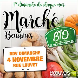 Marché bio à Beauvais dimanche 4 novembre