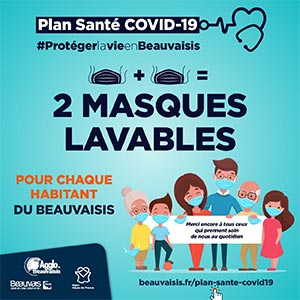DISTRIBUTION GRATUITE D'UN KIT « ANTI-COVID-19 » DE 2 MASQUES LAVABLES